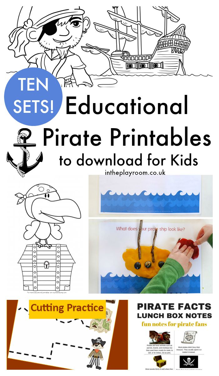 13 Fun Pirate Crafts For Kids And 10 Pirate Printables