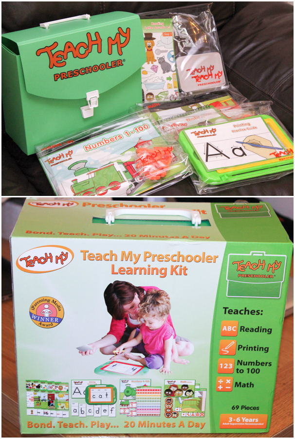 Teach my preschooler learning kit including educational activities to spend 20 minutes per day