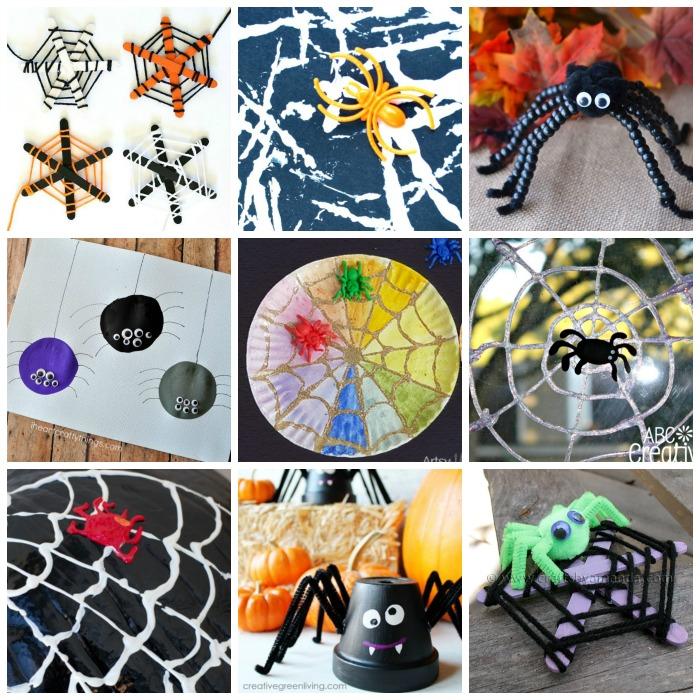 Kids spider crafts for Halloween