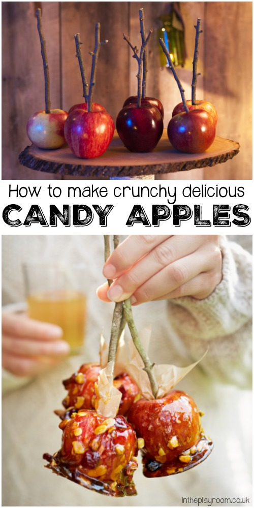 How to make crunchy and delicious candy apples or toffee apples, perfect for Halloween or bonfire night. These are the essential Autumn treat for me!