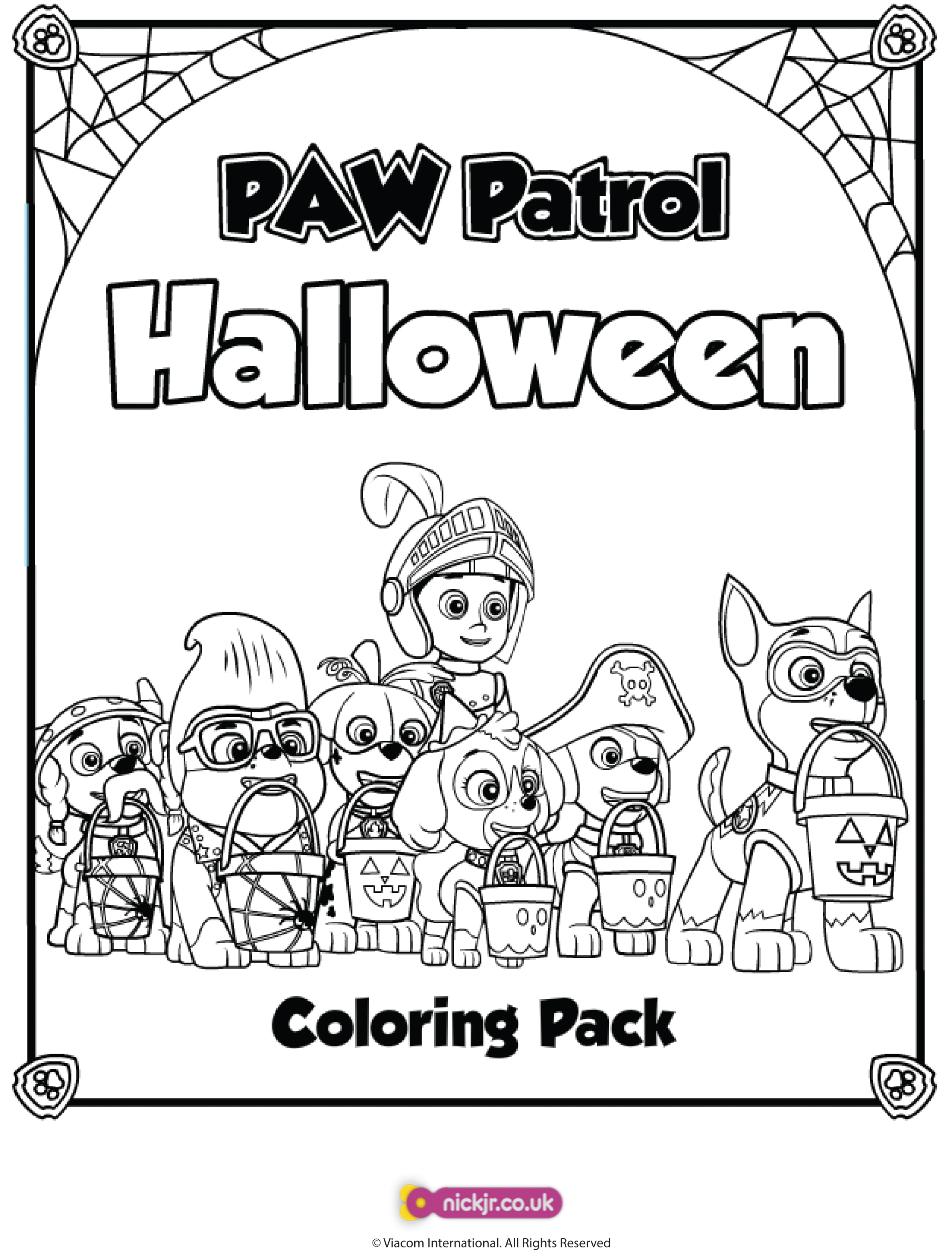 Paw Patrol Coloring Pages Game : Nick jr pumpkin party and giveaway in the playroom