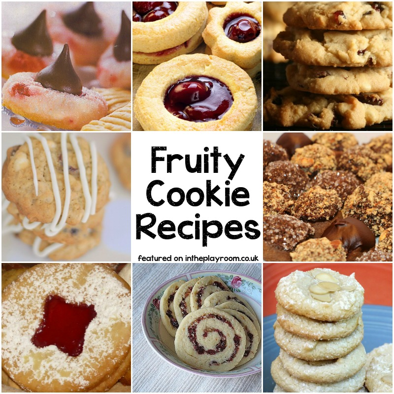 Fruity cookie recipes for Christmas. Cranberry cookies, orange cookies, jam cookies and more