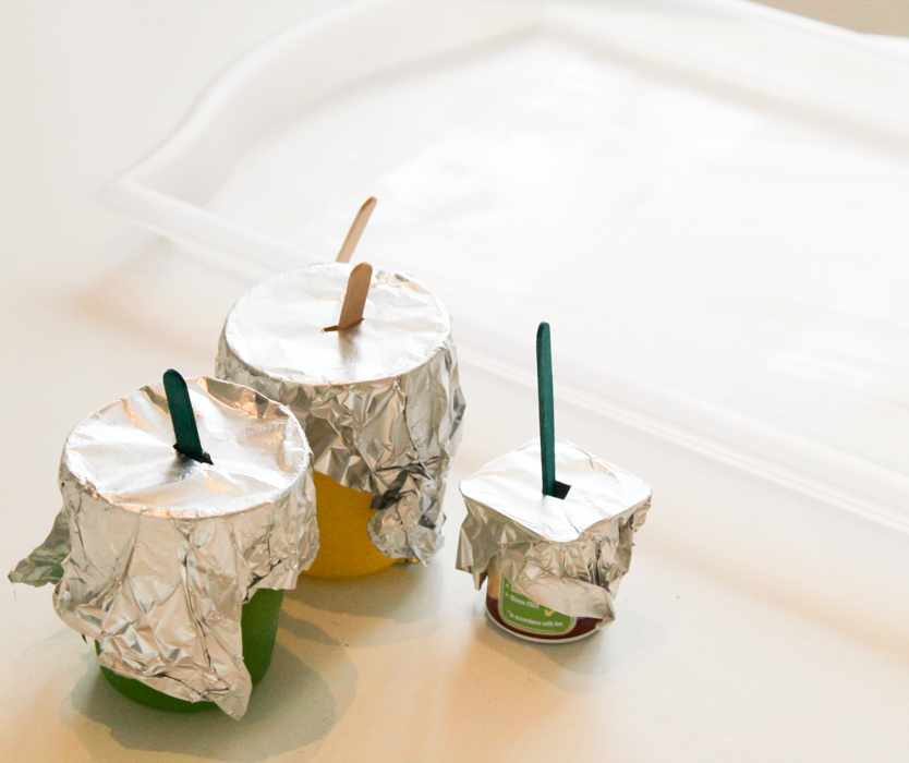 freezing ice in pots
