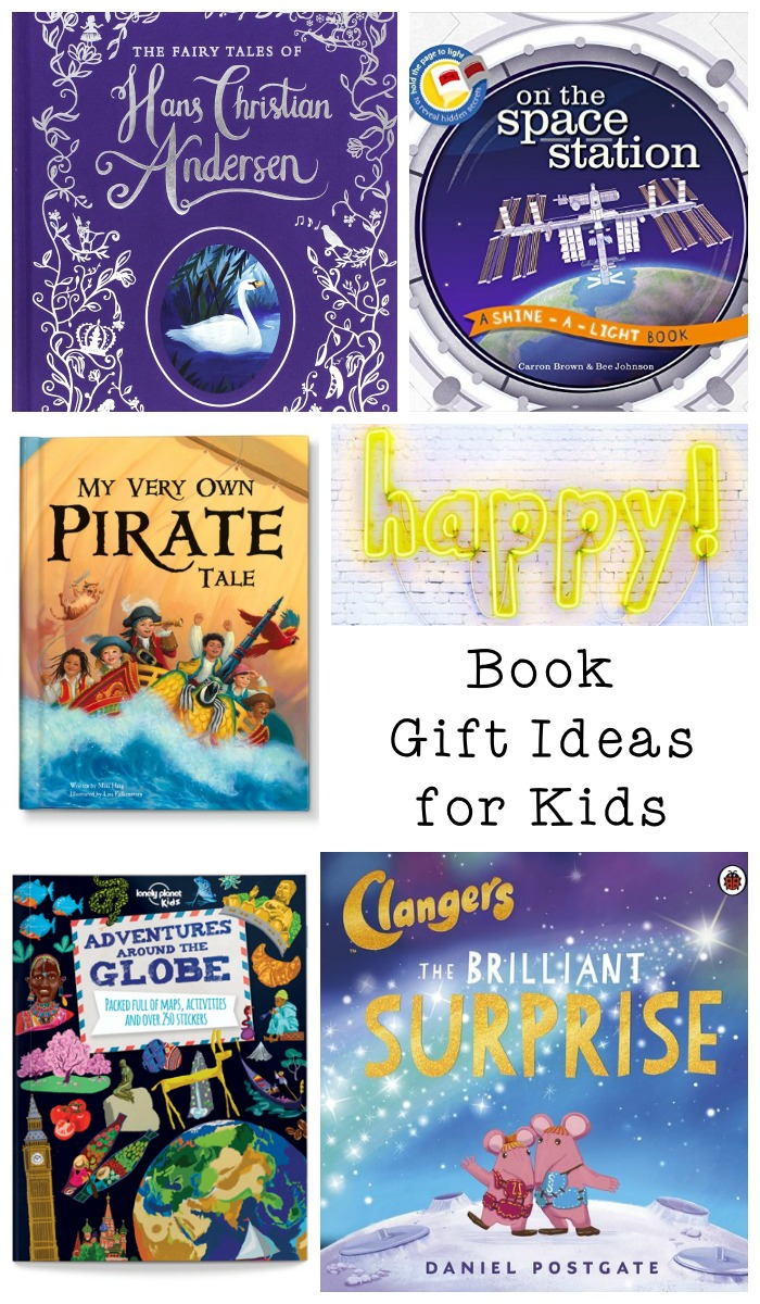 Book gift ideas for kids, including fiction and non fiction