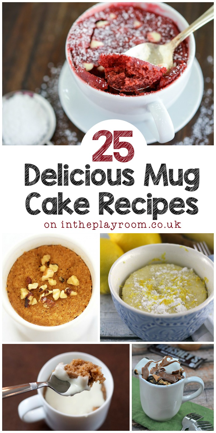 I have to try these 25 mug cake recipes, so many different varieties from nutella mug cakes to lemon mug cake. The apple and cinnamon mug cake with frosting is my favourite!