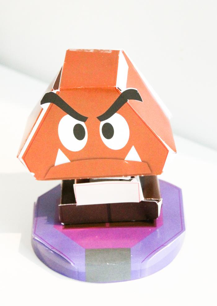 Mario & Luigi Paper Jam Bros paper craft goomba