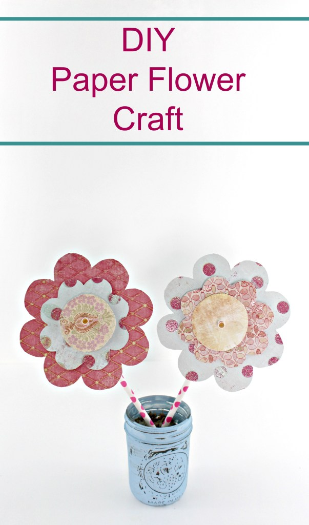 DIY paper flower craft with free printable template to use