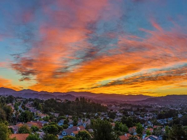 Santa Clarita Sunrise Panorama