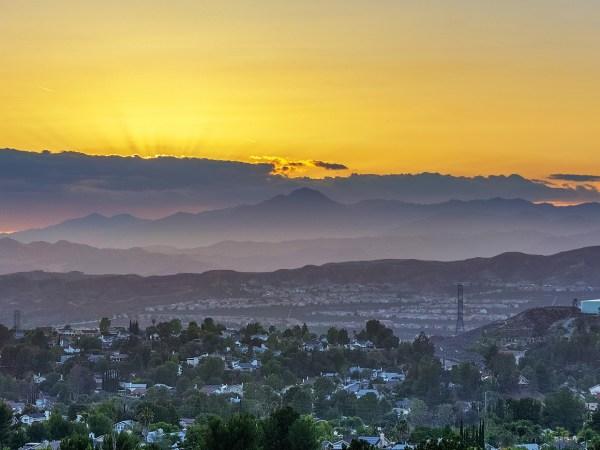 Bold, Yellow Sunset