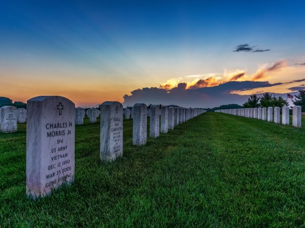 Sunset At WV National Cemetery