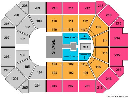 Allstate Arena Seating Chart Wwe - Best Seat 2018