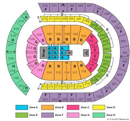 bridgestone arena seating chart bridgestone arena interactive
