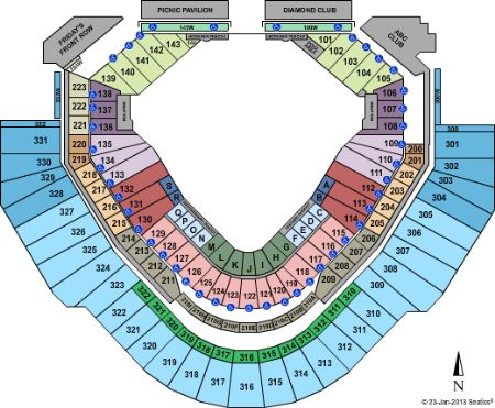 Chase Field Seating Map With Rows Awesome Home