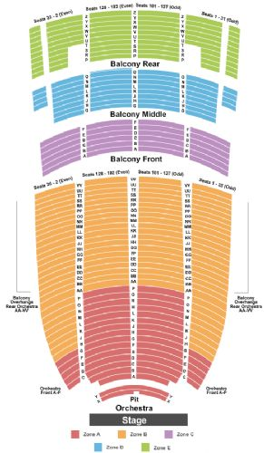 Paramount Theater Oakland Seating Chart