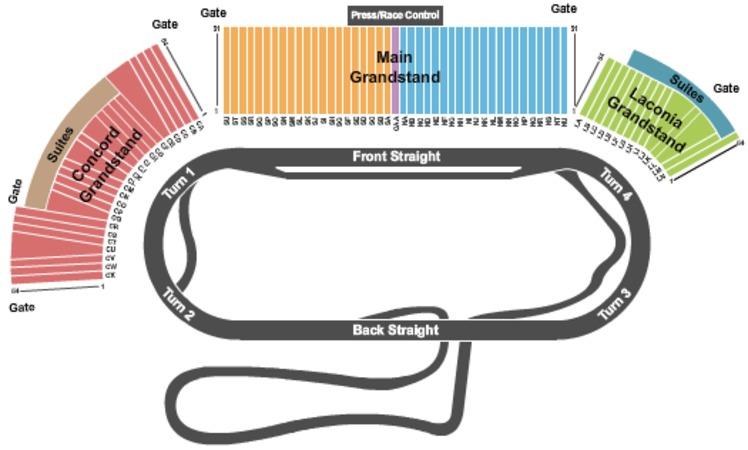 Las Vegas Motor Speedway Seating Map Las Vegas Motor Speedway Site