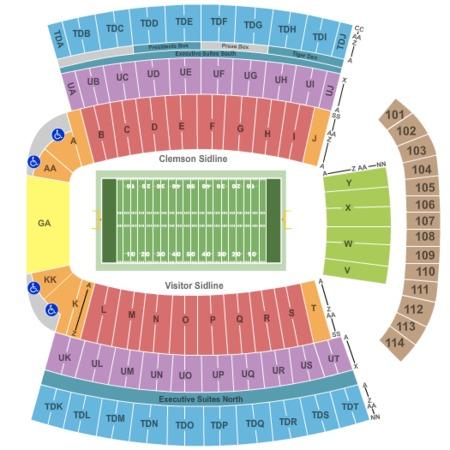 Football Stadium Clemson Football Stadium Seating