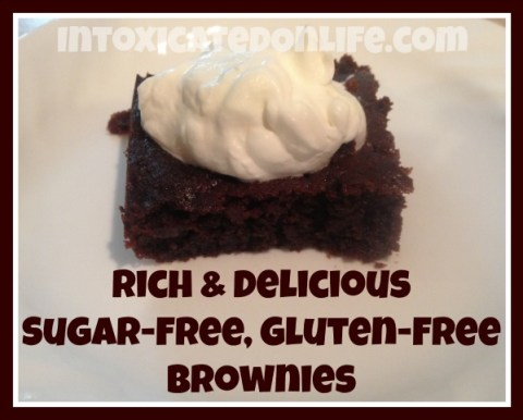 Rich and Delicious, Gluten Free, Sugar Free Brownies
