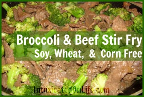 Broccoli and Beef Stir Fry: Soy, Wheat, & Corn Free