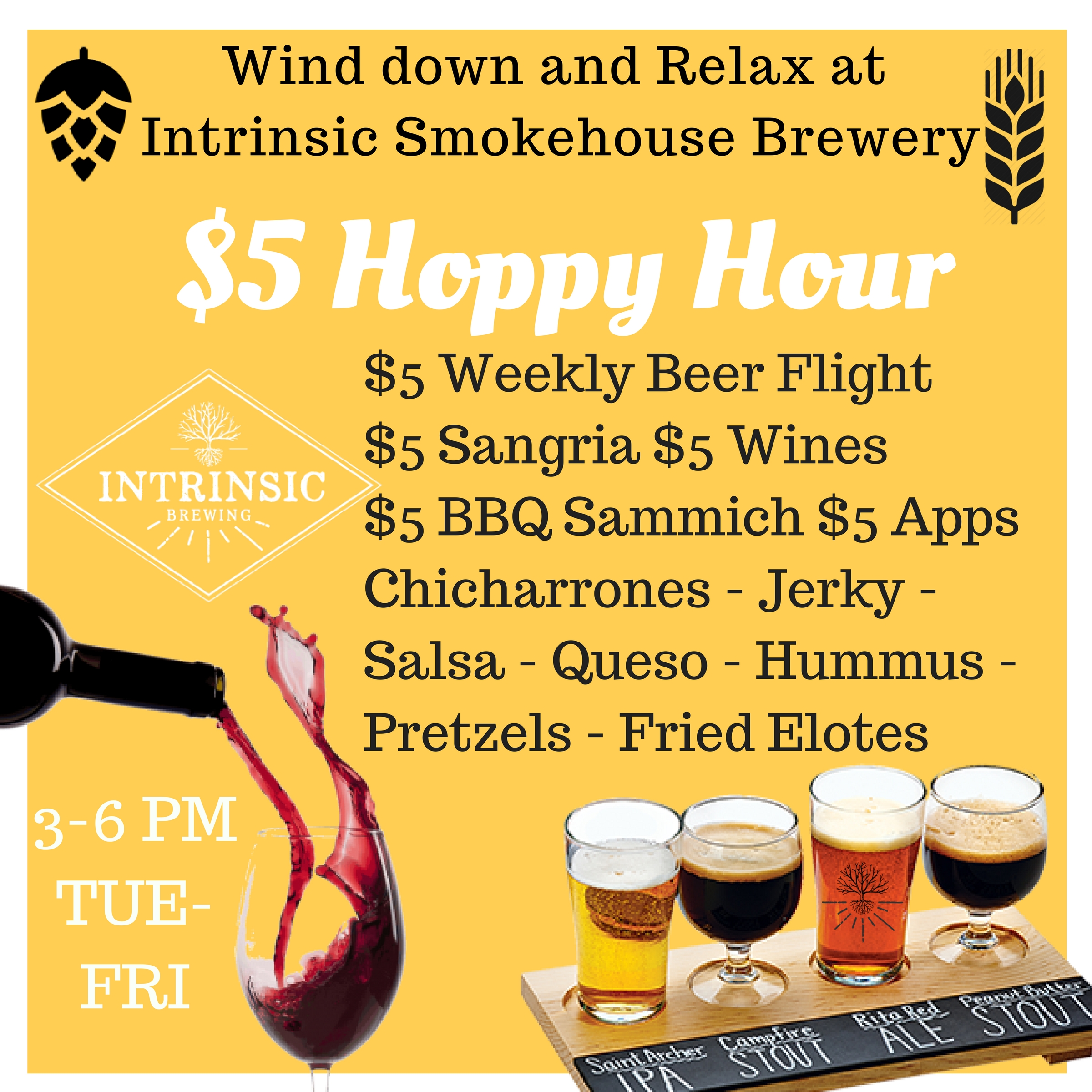 Beer Specials Happy Hour Daily Specials Intrinsic Smokehouse Brewery
