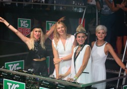 TAG HEUER MIXES IT UP DJs NERVO & Tennis Superstar Maria Sharapova Down Under and Upside Down at Melbourne Party
