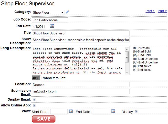 How to write a calendar listings