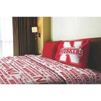NCAA Applique Bedding Comforter 3 Pc Set - Nebraska - Size ...