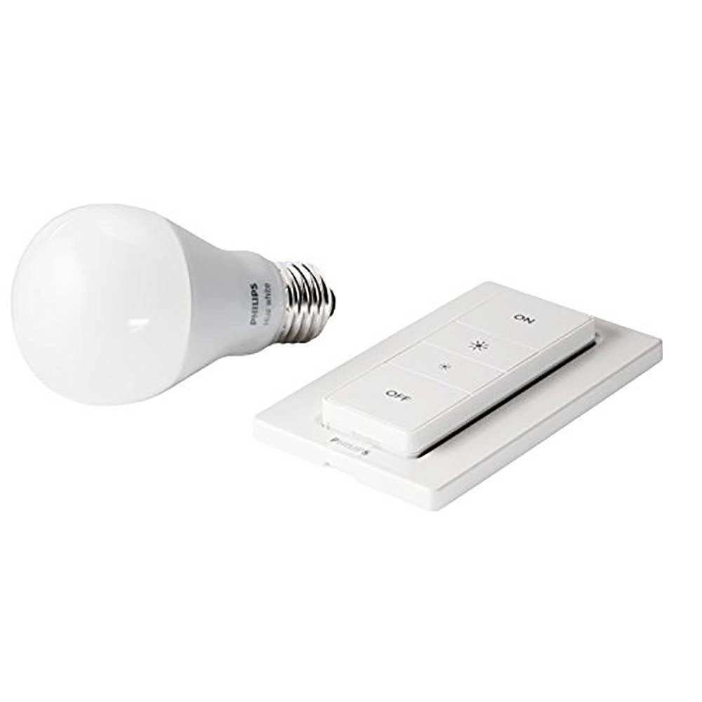 Philips Dimmer Philips Hue Wireless Dimmer Kit With 9 5 Watt Hue White Led Bulb