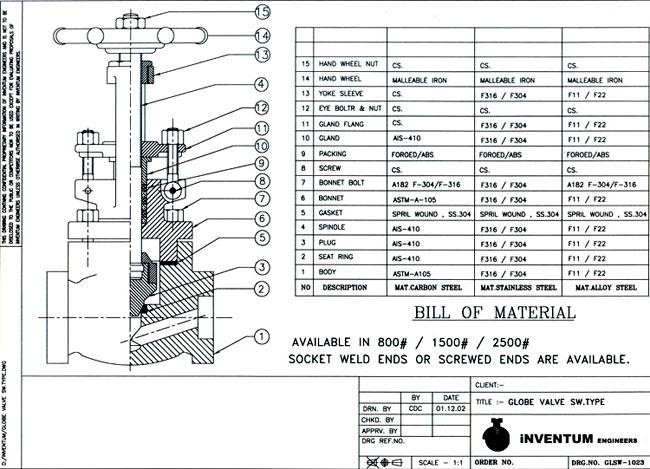 gate valve diagram