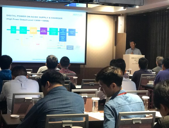 Dr. Like Xie presenting on battery cell and industry trends
