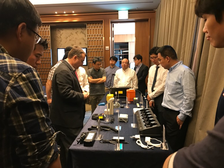 Showcasing product examples of battery packs, chargers and power supplies