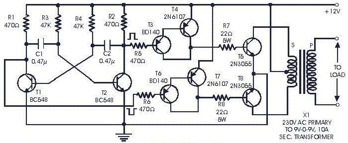 1000 watt inverter circuit diagrams
