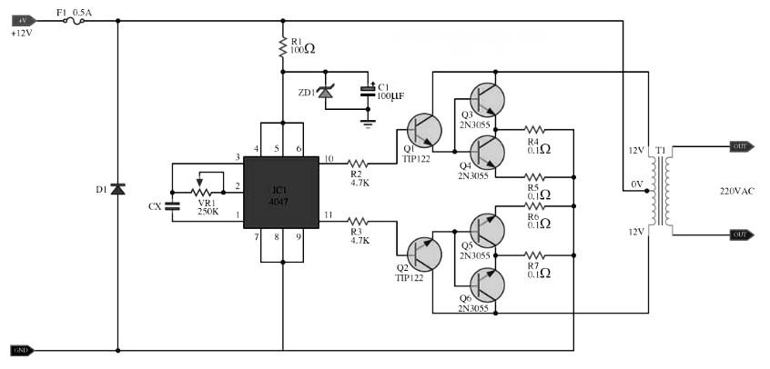 inverter inverter diagram 1 ment 100w dc inverter circuit with pcb