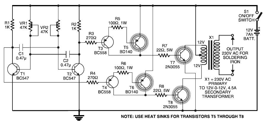 power mosfet inverter circuit diagram