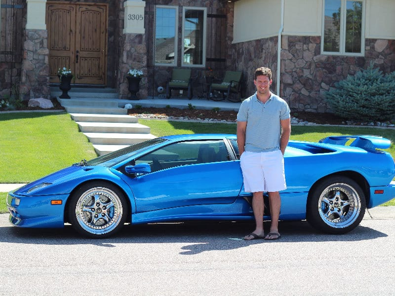 My 1999 Lamborghini Diablo. I felt comfortable buying this car because I had $5,000 a month in cash flow from rentals.