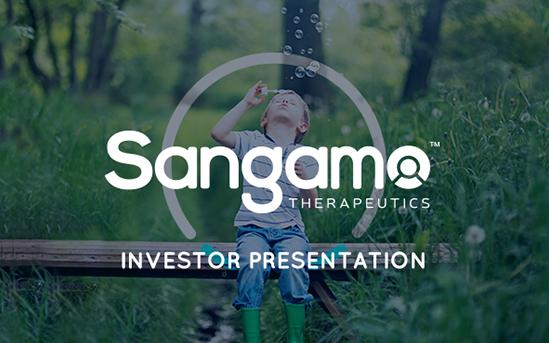 Investor Relations Sangamo Therapeutics, Inc