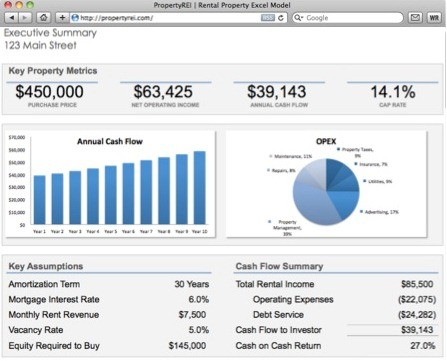Rental Property Calculator Real Estate Investment Excel Spreadsheet