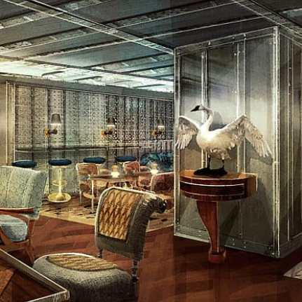 Rendering of the members club behind the Vault