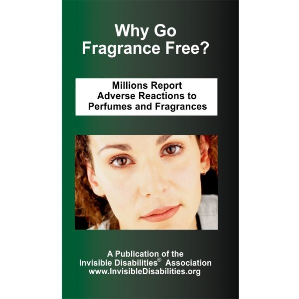 Why Go Fragrance Free Pamphlet - 25 Pack - Invisible Disabilities