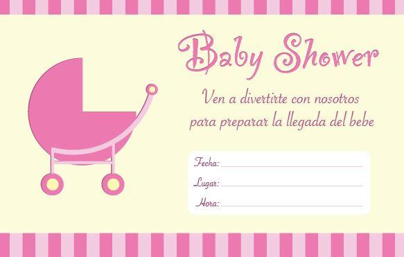 Invitaciones Baby Shower para Imprimir - baby shower nia