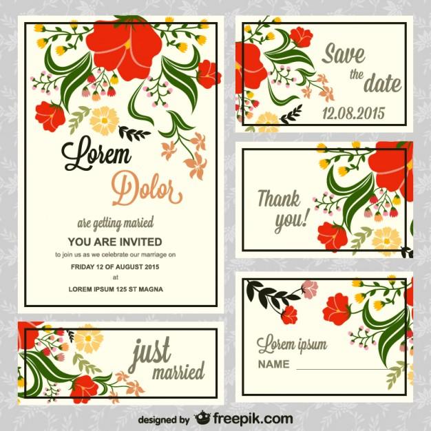 Invitaciones de boda para imprimir gratis Descarga plantillas【2018】 - plantillas para invitaciones gratis