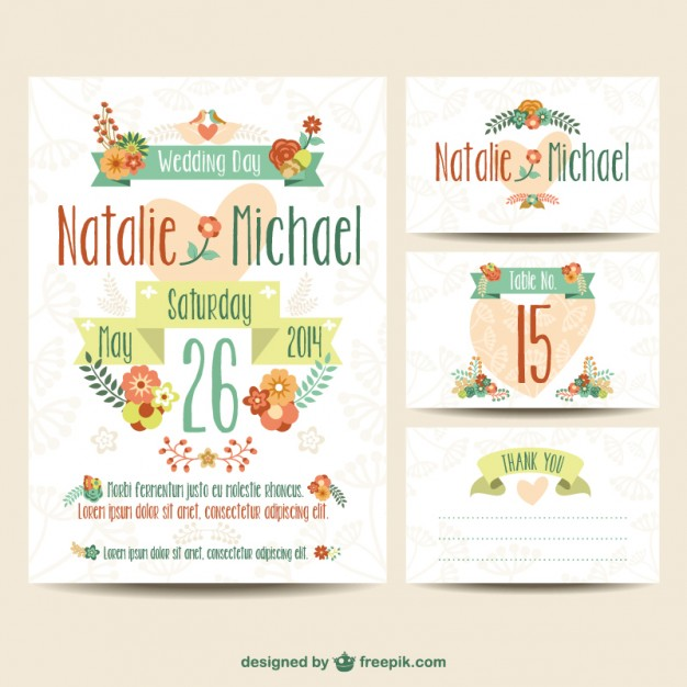 Plantillas de invitaciones de boda imprimibles ✨ Invitaciones de - plantillas para invitaciones gratis
