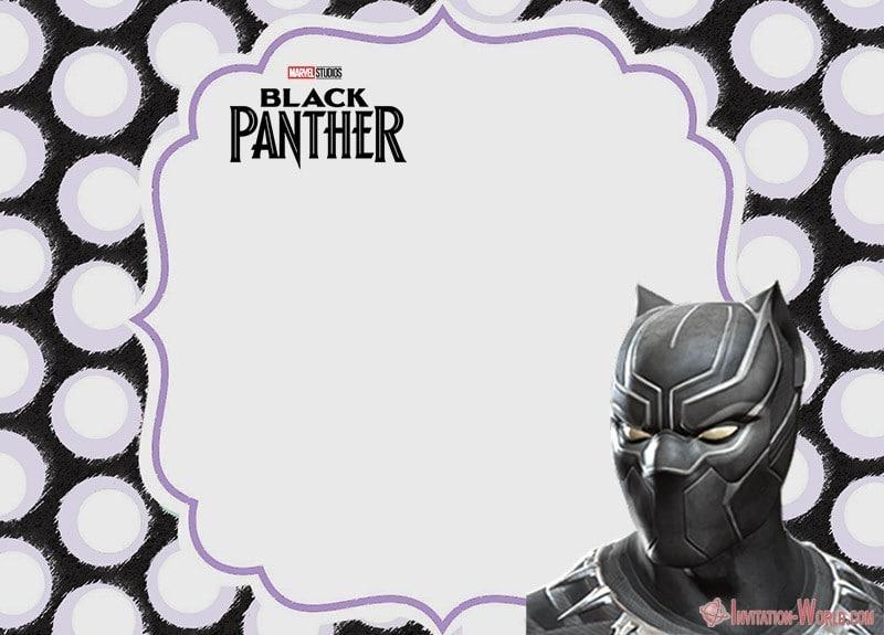 Free Printable Black Panther Invitation Templates Invitation World