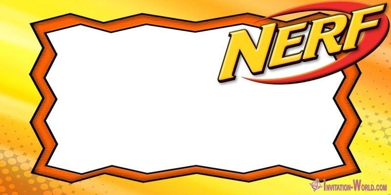 Nerf Party Invitations - 5 FREE Templates Invitation World