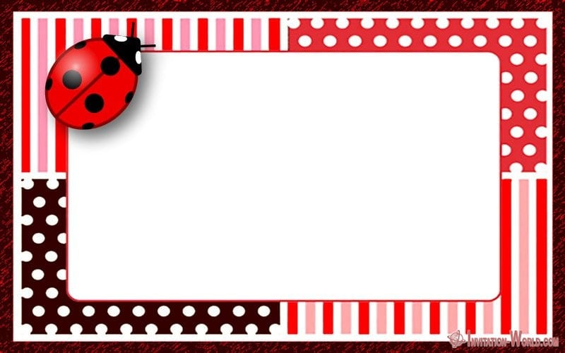 Ladybug Invitation Templates - Free Download Invitation World