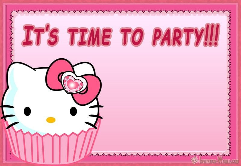 Hello Kitty Invitations - Free Printable Templates Invitation World