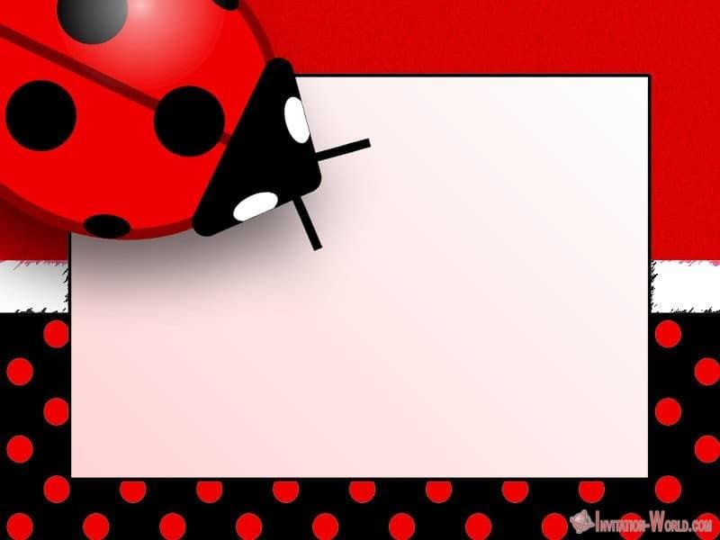 Ladybug Invitation Templates - Free Download Invitation World