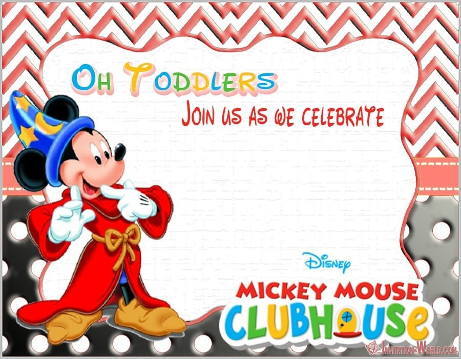 Mickey Mouse Birthday Invitation Templates Invitation World