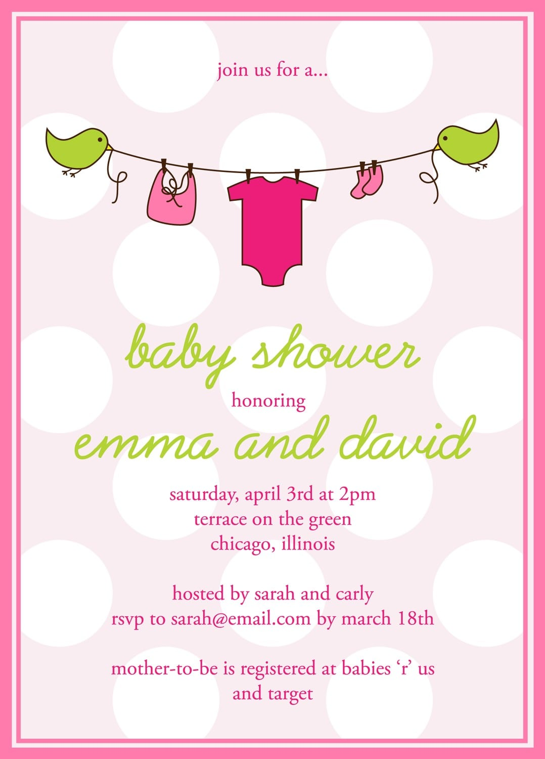 Baby Baby Online Free Downloadable Baby Shower Invitation