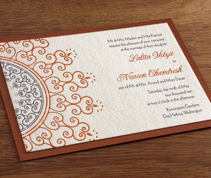 Indian Mehndi Wedding Card Gallery - Lalita Invitations by Ajalon - Formal Invitation