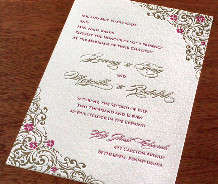 Letterpress Invitations for Valentine\u0027s Day letterpress wedding